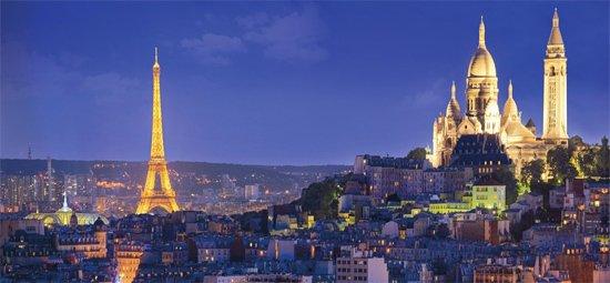 Tour noturno da capital francesa
